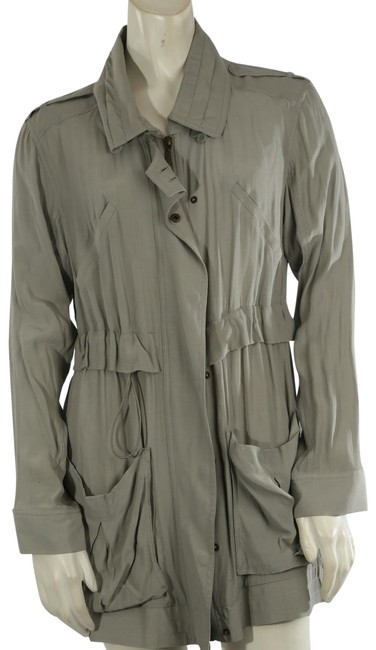 Item - Green Bcbg Max Azria Olive Collared Jacket Coat Size 4 (S)