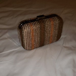 Expressions Brown metallic Clutch
