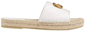 Gucci Gg Espadrille Double G White Flats