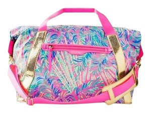 Lilly Pulitzer pink, gold Travel Bag