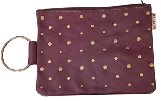 Mayko Party Shoulder Leather Designer Israel Red Purse Purse Studded Studded Leather Studded Womens With Handle Burgundy Clutch