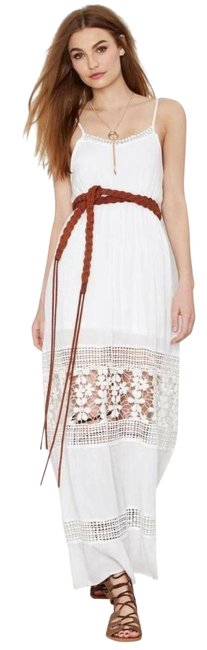 Item - White Wilde Heart Celestial Crochet Small S Long Casual Maxi Dress Size 0 (XS)