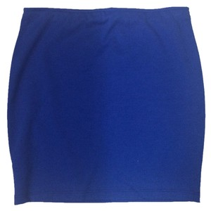 Necessary Objects Blue Bodycon Bandage Mini Summer Mini Skirt Cobalt