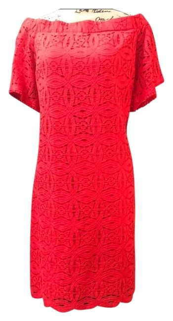 Item - Red Lace Off The Shoulder Mid-length Night Out Dress Size 16 (XL, Plus 0x)