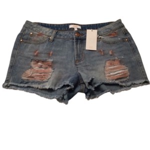 Candie's Cut Off Shorts Blue, Pink
