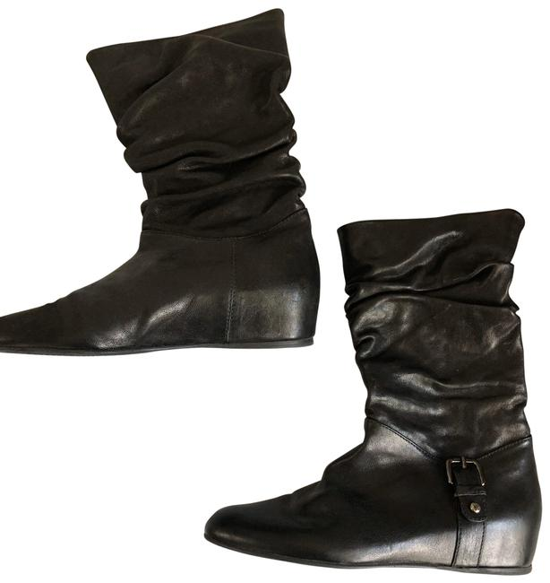 Item - Black Slouch Leather Boots/Booties Size US 8 Regular (M, B)