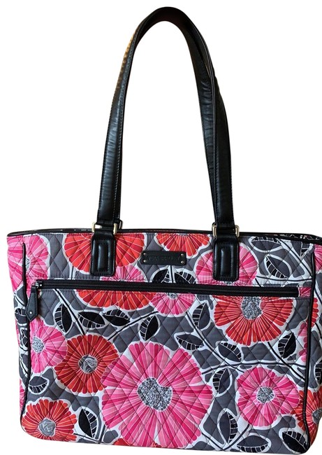 Item - Multi-colored Fabric Material Satin Lined Tote