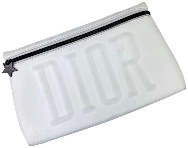 Item - White Zip Pouch Cosmetic Bag