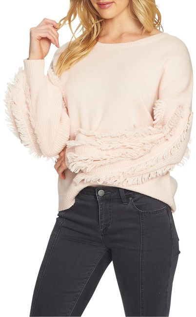 Item - Fringe Sleeve Pink Sweater