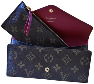 Louis Vuitton Monogram Josephine Wallet with Fuchsia Interior