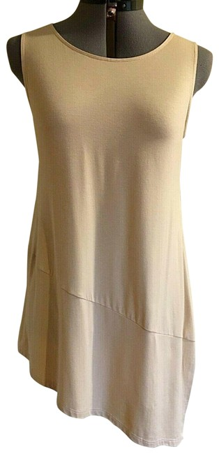Item - Tan Cashew Sleeveless Tunic Size 22 (Plus 2x)