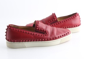 Christian Louboutin Red Roller-boat Men's Flat with Studs Shoes