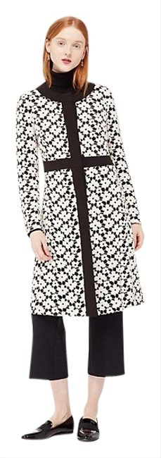 Item - Black White Guipure Lace A-line Coat Size 6 (S)