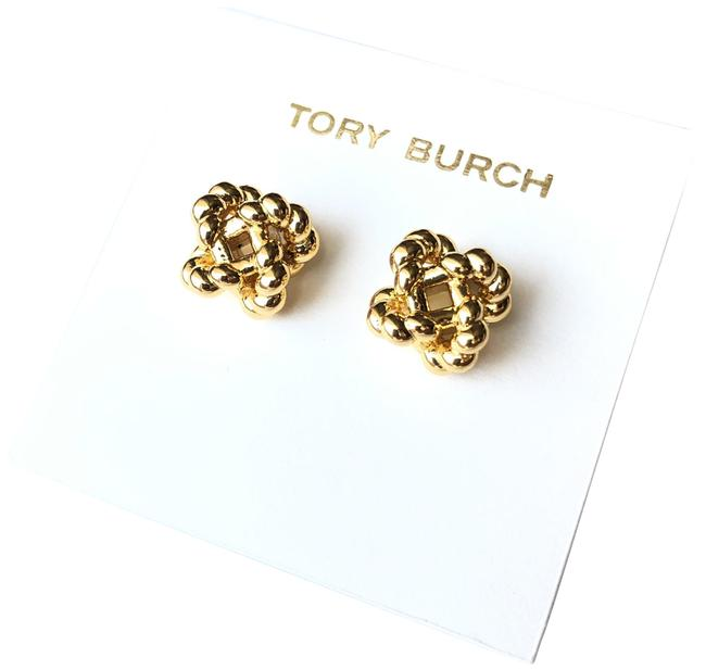 Tory Burch Yellow Gold Rope Knot Studs Earrings Tory Burch Yellow Gold Rope Knot Studs Earrings Image 1