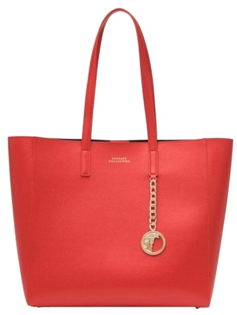 Item - / Collection/ Saffiano / Leather Red Tote