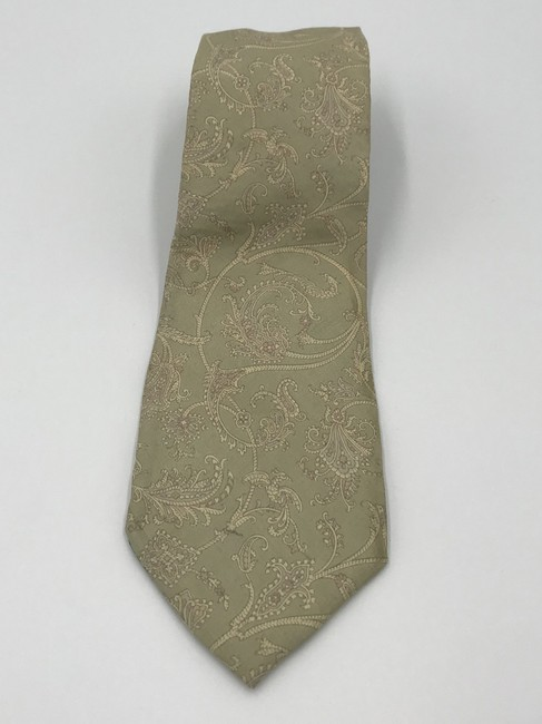 Item - Green and Yellow Christian Paisley Tie/Bowtie