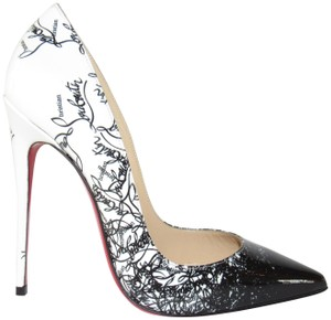 Christian Louboutin Loubi Red Sole With Box Black Pumps