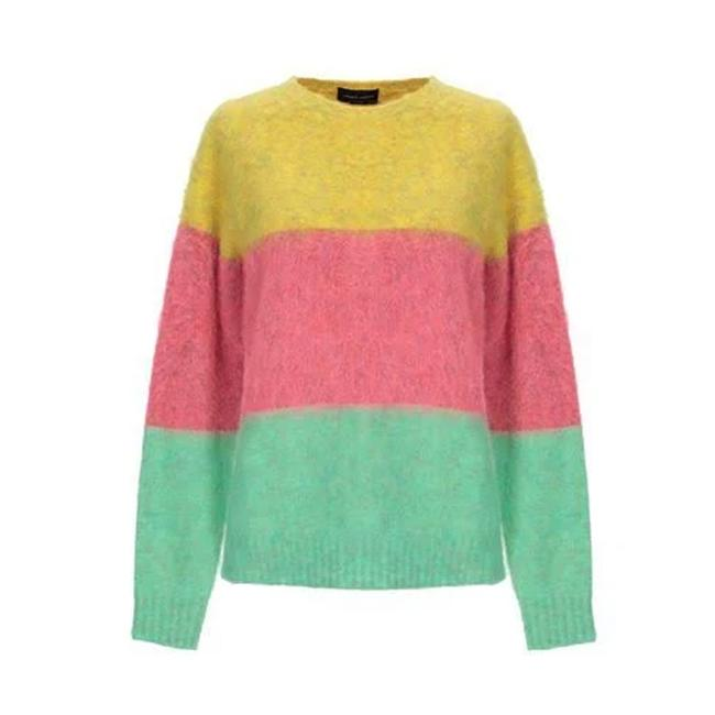 Roberto Collina Pink Green Yellow Sweater Roberto Collina Pink Green Yellow Sweater Image 1
