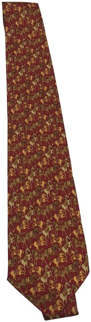 Item - Orange/Yellow/Brown Men's Tie Made In Italy Scarf/Wrap