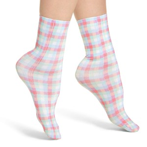 Kate Spade Gingham Trouser Dress Crew Socks