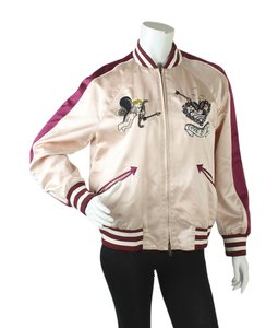 Valentino Casual Silk Pink Womens Jean Jacket