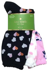 Kate Spade Heart Love Bird 3-Pack Crew Socks