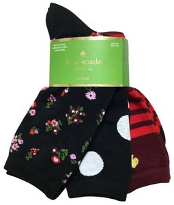 Kate Spade Flower Stripe Dot 3-Pack Crew Socks