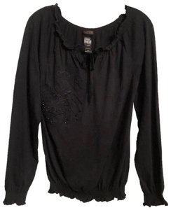 Custo Barcelona New Knit Oversized Embroidered Top Black