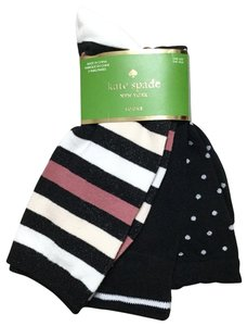 Kate Spade Sparkle Stripe Dot Solid 3-Pack Crew Socks