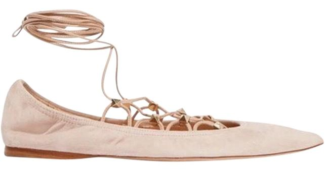 Item - Pink Lace-up Suede Point-toe Flats Size EU 37.5 (Approx. US 7.5) Regular (M, B)