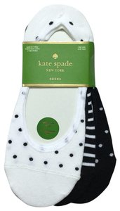 Kate Spade Polka Dot Striped 3-Pack Invisible Liner Socks