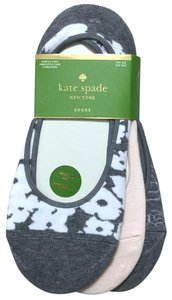 Kate Spade Floral Solid 3-Pack Invisible Liner Socks