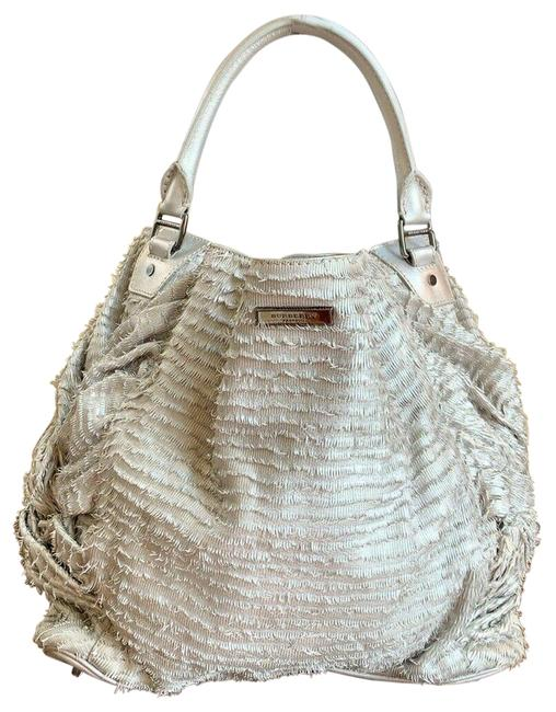 Burberry Prorsum Large Osprey Tote Metallic-trench Fringed Leather Hobo Bag Burberry Prorsum Large Osprey Tote Metallic-trench Fringed Leather Hobo Bag Image 1