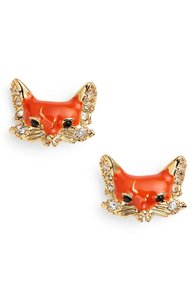 Kate Spade into the woods fox earring