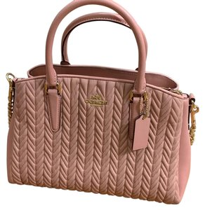 Coach Satchel in melon pink/Gold