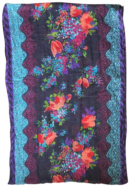 Item - Multicolored Floral Infinity Scarf/Wrap