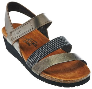 Naot Cross-strap Silver Sandals