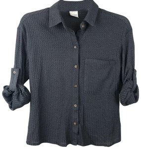 Passport Rolltab Waffleknit Button Down Shirt Gray