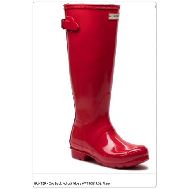 Item - Red Tall Gloss Boots/Booties Size US 6 Regular (M, B)