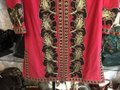 Tory Burch Fuchsia Brown Gold Embroidered Caftan/Dress Style#54825 Mid-length Short Casual Dress Size 4 (S) Tory Burch Fuchsia Brown Gold Embroidered Caftan/Dress Style#54825 Mid-length Short Casual Dress Size 4 (S) Image 6