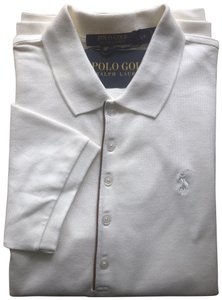 Polo Ralph Lauren 5 Buttons Pique Sleeve T Shirt Ivory