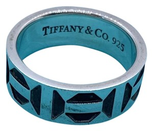 Tiffany & Co. Zellige Black and Silver Ring