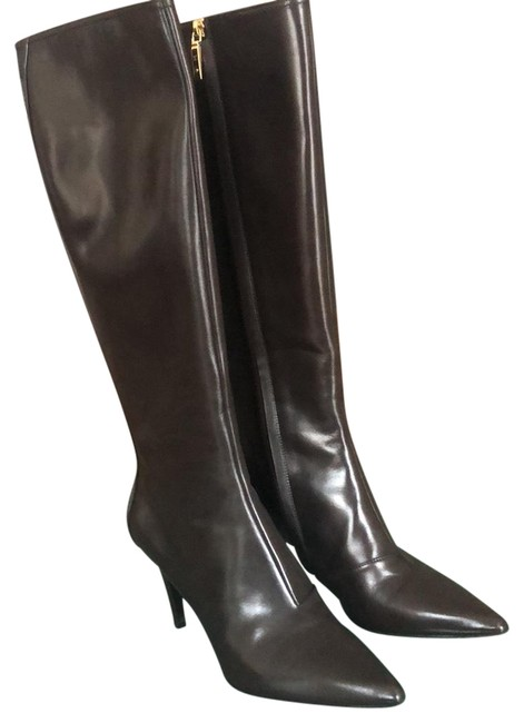 """Item - Brown """"charming"""" High 39 Boots/Booties Size US 8 Regular (M, B)"""