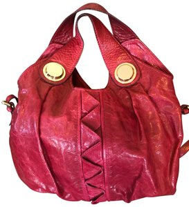 Gustto Leather Gold Hardware Hobo Bag