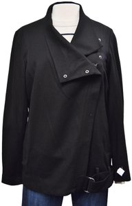 Helmut Lang Asymmetrical Wool Silver Black Jacket