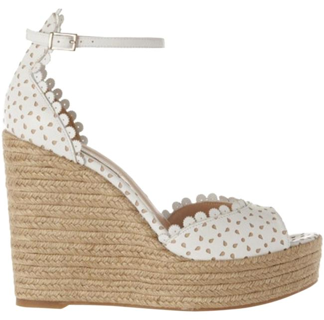 Item - White Harp Perforated Leather Espadrille- New Wedges Size EU 39 (Approx. US 9) Regular (M, B)
