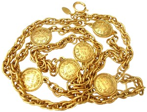 chanel CHANEL Vintage 31 Rue 6 Coins Chain Necklace