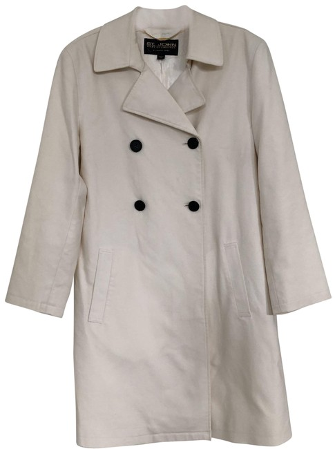 Item - Ivory Collection Double Breasted Cotton Coat Size 8 (M)