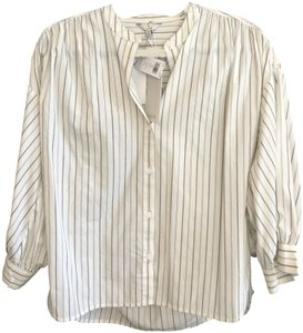 Joie New Yoella Style#193005956 Tp03218 Top Off White, Blue