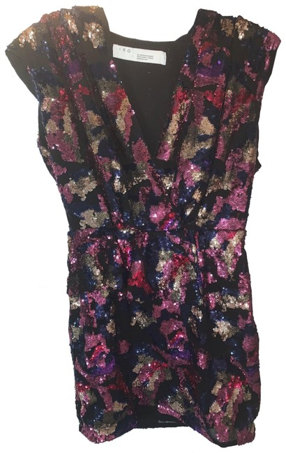 Item - Multi Color Irva Sequin Structure Mini Short Night Out Dress Size 4 (S)